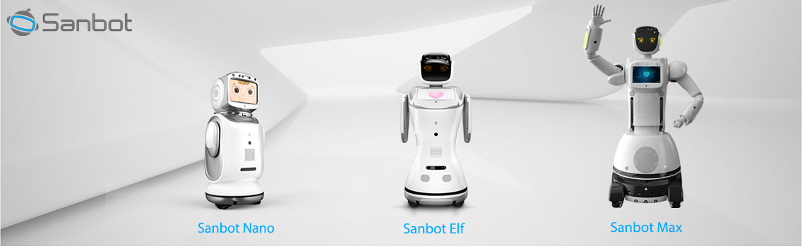The range of Sanbot social robots include Max, Elf and Nano.